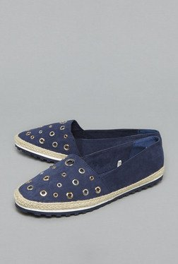 Head Over Heels by Westside Navy Suede Espadrilles