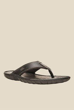 Scholl Bolt Black Thong Sandals
