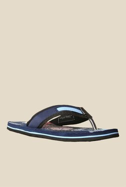 Sunshine By Bata Abstract Navy Blue Flip Flops