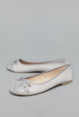 Head Over Heels by Westside Grey Glitter Ballet Flats