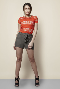 New Look Orange Lace T Shirt