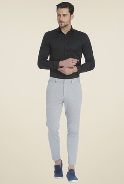 Jack & Jones Light Grey Slim Fit Trousers