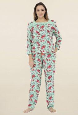 Heart 2 Heart Green Floral Print Pyjama Set