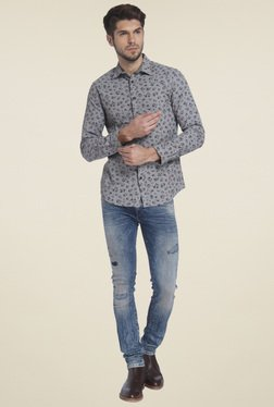 Jack & Jones Grey Slim Fit Shirt