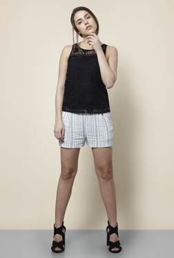 New Look Black Lace Top