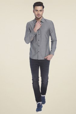 Jack & Jones Light Grey Slim Fit Shirt