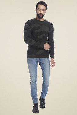 Jack & Jones Dark Green Crew Neck Pullover