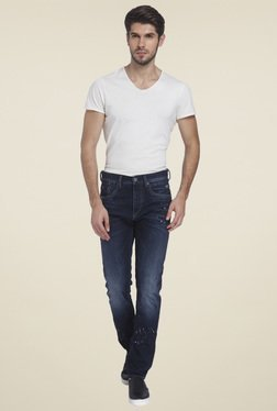 Jack & Jones Dark Blue Printed Jeans
