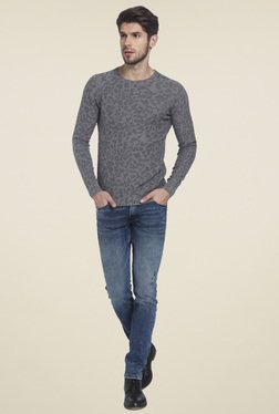 Jack & Jones Grey Slim Fit Sweater