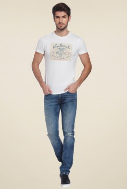 Jack & Jones White Crew Neck Slim Fit T-Shirt