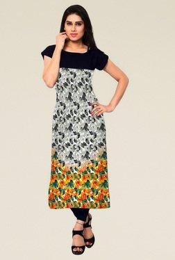 Indian Style Collection Grey Semi Stitched Kurti