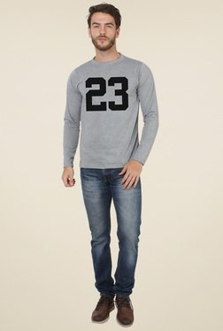 Sayitloud Grey Slim Fit Crew Neck T-Shirt