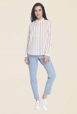 Vero Moda Off White Striped Shirt