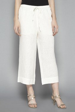 Zuba by Westside Off White Cropped Palazzos