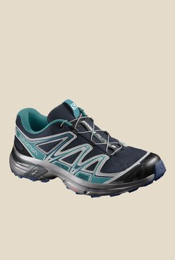 Salomon Wings Flyte 2 Navy & Turquoise Hiking Shoes