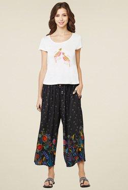 Global Desi White Short Sleeves Top