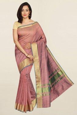 Pavecha's Brown Banarasi Cotton Silk Saree