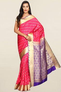 Pavecha's Pink Kanjivaram Art Silk Saree