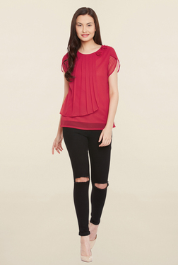 MEEE Red Solid Top