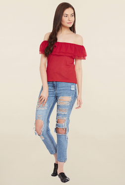 MEEE Red Solid Top - Mp000000001133394
