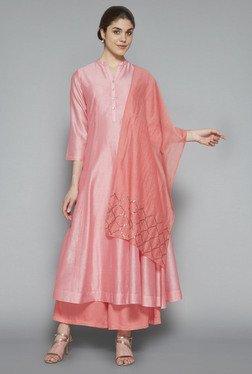 Zuba By Westside Pink Sequinned Dupatta