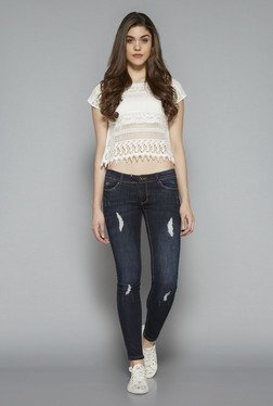 Nuon by Westside White Elina Crop Top