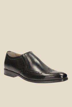 Clarks Amieson Black Brogue Slip-Ons