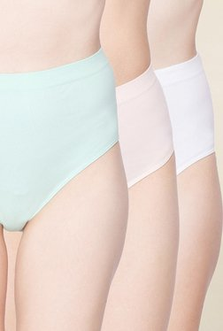 C9 Green, Pink & White Solid Hipster Panties (Pack Of 3)