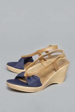 Head Over Heels by Westside Navy Back Strap Wedges