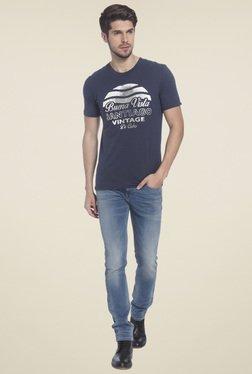 Jack & Jones Dark Blue Crew Neck T-Shirt