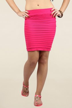 N-Gal Pink Solid Skirt - Mp000000001143396