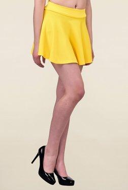 N-Gal Yellow Textured Skirt
