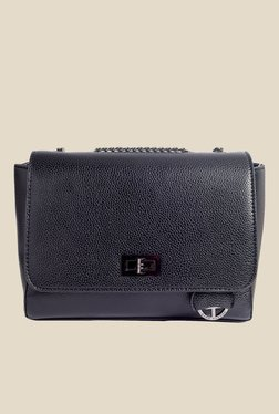 Lino Perros Black Textured Sling Bag - Mp000000001143437