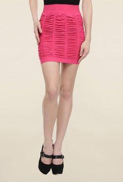 N-Gal Pink Solid Skirt
