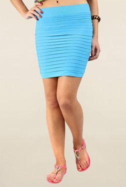 N-Gal Turquoise Solid Skirt