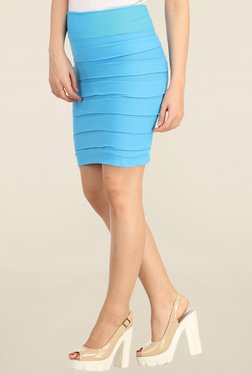 N-Gal Turquoise Solid Skirt - Mp000000001143588