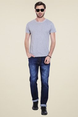 High Star Dark Blue Mid Rise Slim Fit Jeans