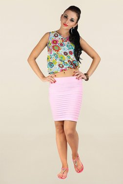 N-Gal Light Pink Solid Skirt