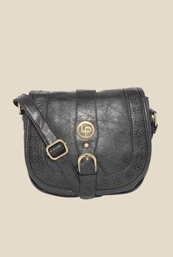 Lino Perros Black Laser Cut Design Saddle Bag