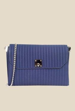Lino Perros Blue Textured Sling Bag