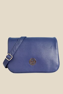 Lino Perros Blue Solid Sling Bag - Mp000000001144945