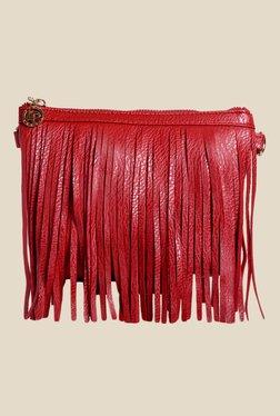 Lino Perros Red Fringe Sling Bag