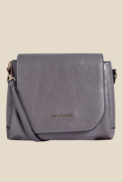 Lino Perros Grey Solid Sling Bag