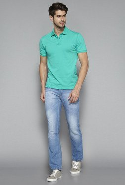 Westsport by Westside Turquoise Slim Fit Polo T Shirt