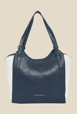 Lino Perros Navy And White Solid Shoulder Bag
