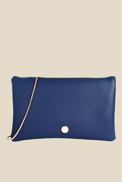Lino Perros Blue Solid Sling Bag
