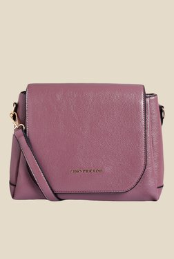 Lino Perros Purple Solid Sling Bag