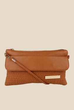 Lino Perros Tan Textured Sling Bag - Mp000000001145109