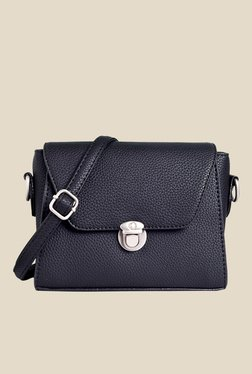 Lino Perros Black Solid Sling Bag - Mp000000001145187