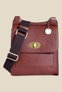 Lino Perros Brown Solid Sling Bag